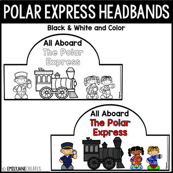 Polar Express Headband and Ticket-B/W and Color