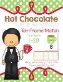 Polar Express: Hot Chocolate & Marshmallows Ten and Twenty Frame Match