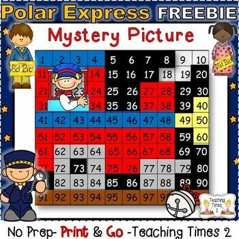 Polar Express Hundreds Chart Freebie