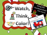 Polar Express Hundreds Chart Fun - Watch, Think, Color!