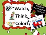 Polar Express Hundreds Chart Fun - Watch, Think, Color!