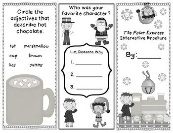 Polar Express Interactive Brochure and Story Recall Sheets