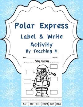Polar Express Label & Write a Sentence Activity