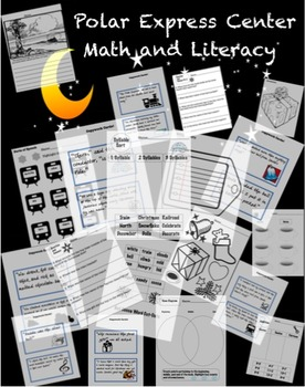 Polar Express Literacy and Math Worksheets