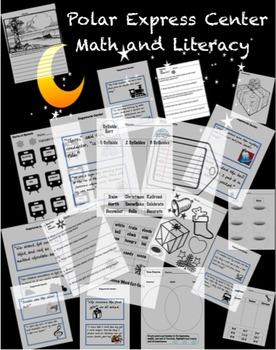 Polar Express Literacy and Math Worksheets