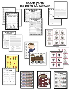 Polar Express Pack: Literacy, Math, and Writing