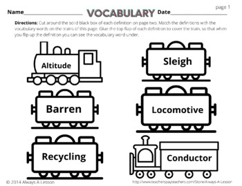 The Polar Express Literacy Activities Pack