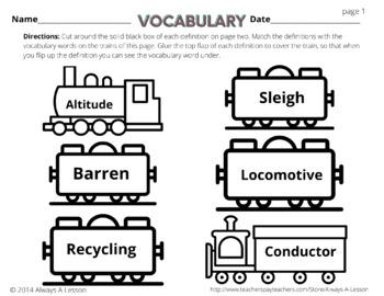 The Polar Express Literacy Activities Pack