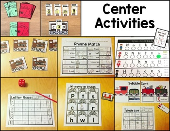 Polar Express Literacy Pack for Kinders
