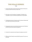 Polar Express Math, Book and Movie Work Packet