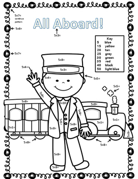 Polar Express Math Puzzles, Games, and Color by Number