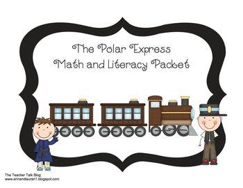 Polar Express Math and Literacy Pack