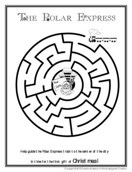 Polar Express Maze Activity