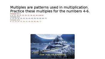 Polar Express Multiplication Facts Booklet