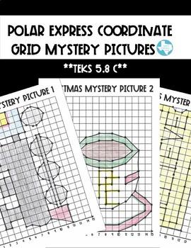 Polar Express Mystery Grids (TEKS 5.8C)