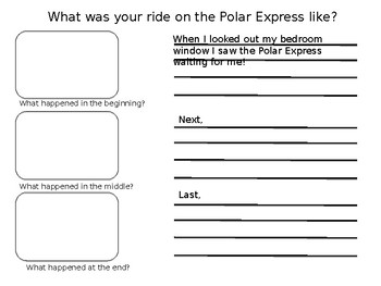 Polar Express Narrative Writing Template