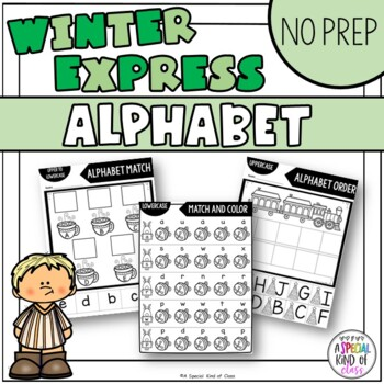 Polar Express No Prep Alphabet