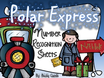 Polar Express Number & Number Word Recognition Practice Sh