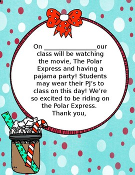 Polar Express PJ Party