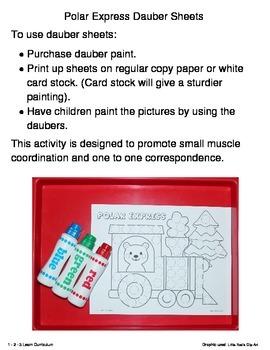 Polar Express Paint Dauber Sheets