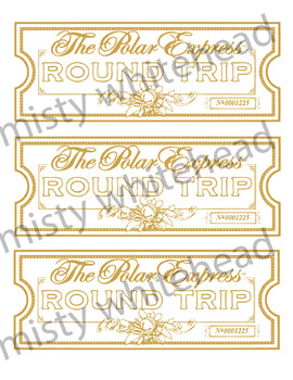 image relating to Printable Polar Express Ticket titled Polar Categorical Printable Tickets
