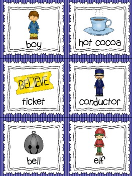 Polar Express Read, Write, and Count the Room {Literacy and Math Center} {CCSS}