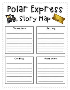 Polar Express Reading Activity Story Map
