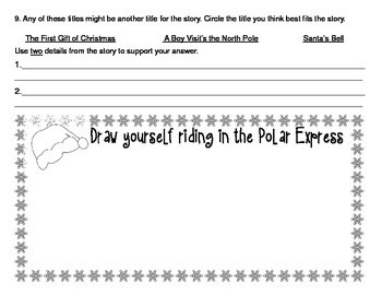 Polar Express Reading Response for Grades 1-2