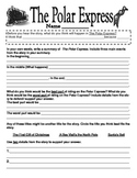 Polar Express Reading Response for Grades 3-4