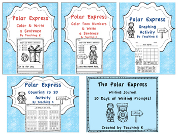 Polar Express Reading, Writing, and Math Activities Bundle