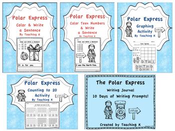 Polar Express Reading, Writing, and Math Activities Bundle