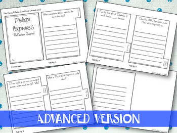 Polar Express Interactive Journal ~ Writing Prompts ~ Christmas