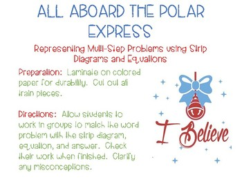 Polar Express:  Representing Word Problems with Strip Diagrams and Equations