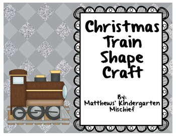 Christmas Train Shape Craft