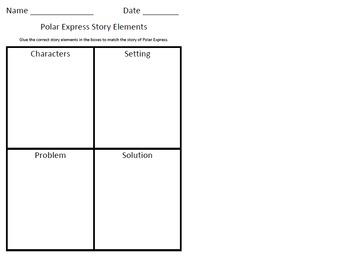 Polar Express Story Element Sort