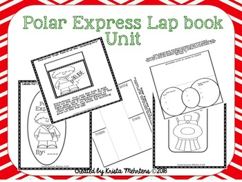 Polar Express Story Elements and Writing Lap book Unit