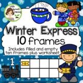 Polar Express Ten Frames (includes worksheet)