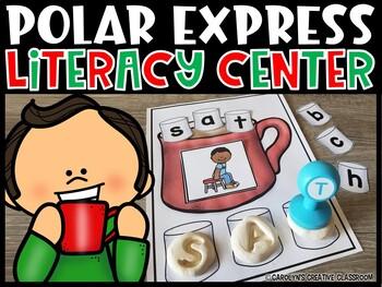 Polar Express Theme | Christmas CVC Building Literacy Center
