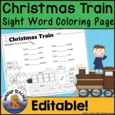 Polar Express Themed Sight Word Activity Sheet  *Editable*