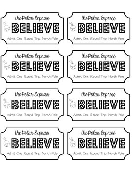 image about Polar Express Tickets Printable referred to as Polar Categorical Ticket Worksheets Schooling Elements TpT