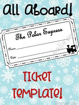 The Polar Express Ticket FREEBIE