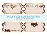 Polar Express Ticket Nametags - 4 Different Designs!