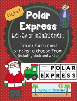 Polar Express Ticket or Punch Card - Behavior Management