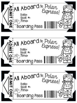 photo regarding Printable Polar Express Tickets Boarding Passes identified as Polar Specific Tickets