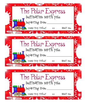 image about Polar Express Tickets Printable called Polar Categorical Coach Tickets Worksheets Schooling Supplies