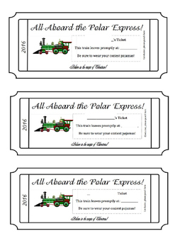 photo regarding Printable Polar Express Ticket identify Polar Categorical Educate Tickets (Editable)