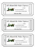 Polar Express Train Tickets (Editable)