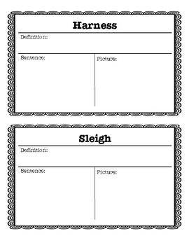 Polar Express Vocabulary Pack