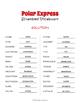 Polar Express Vocabulary Word Scramble Puzzle