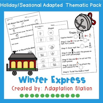 Polar Express Weekly Thematic Pack